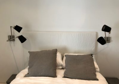 Bedside reading light installation in existing house