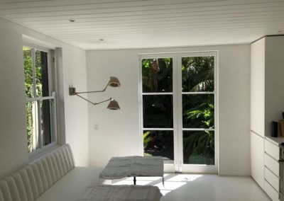 Modern feature wall light in living area