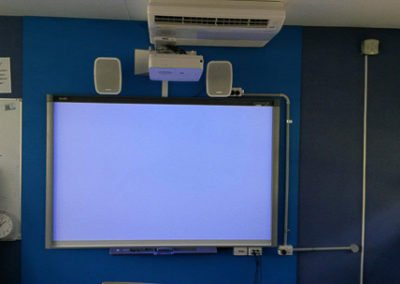 Electrical set up for digital screen and speaker