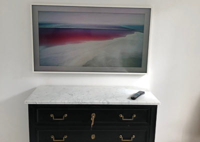 Another image of TV installation showing digital pictures