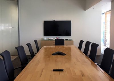 Boardroom electrical fit out and TV mounting