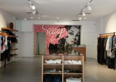Directional lighting for clothing store